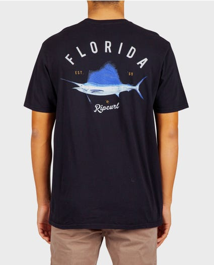 Florida Sailfish Heritage Tee in Black