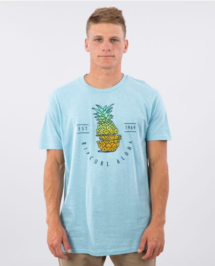 Pineapple Party Premium Tee in Blue