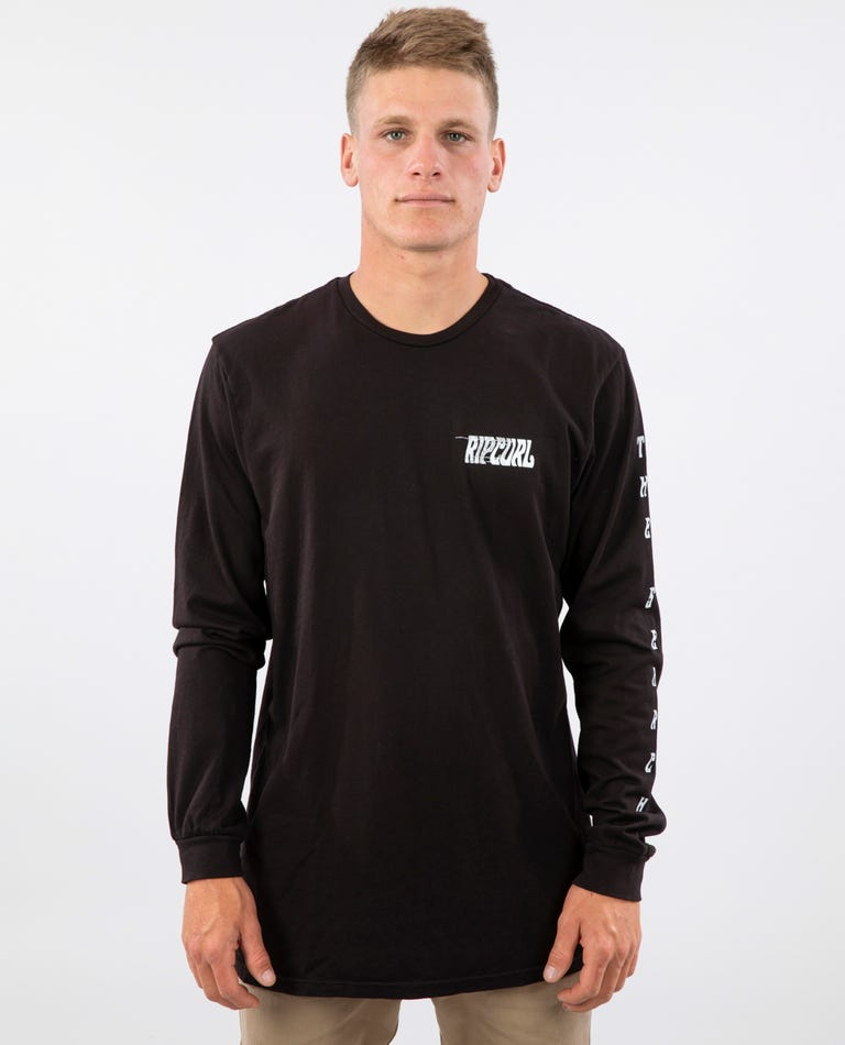 Shred When Dead Heritage Long Sleeve Tee in Black