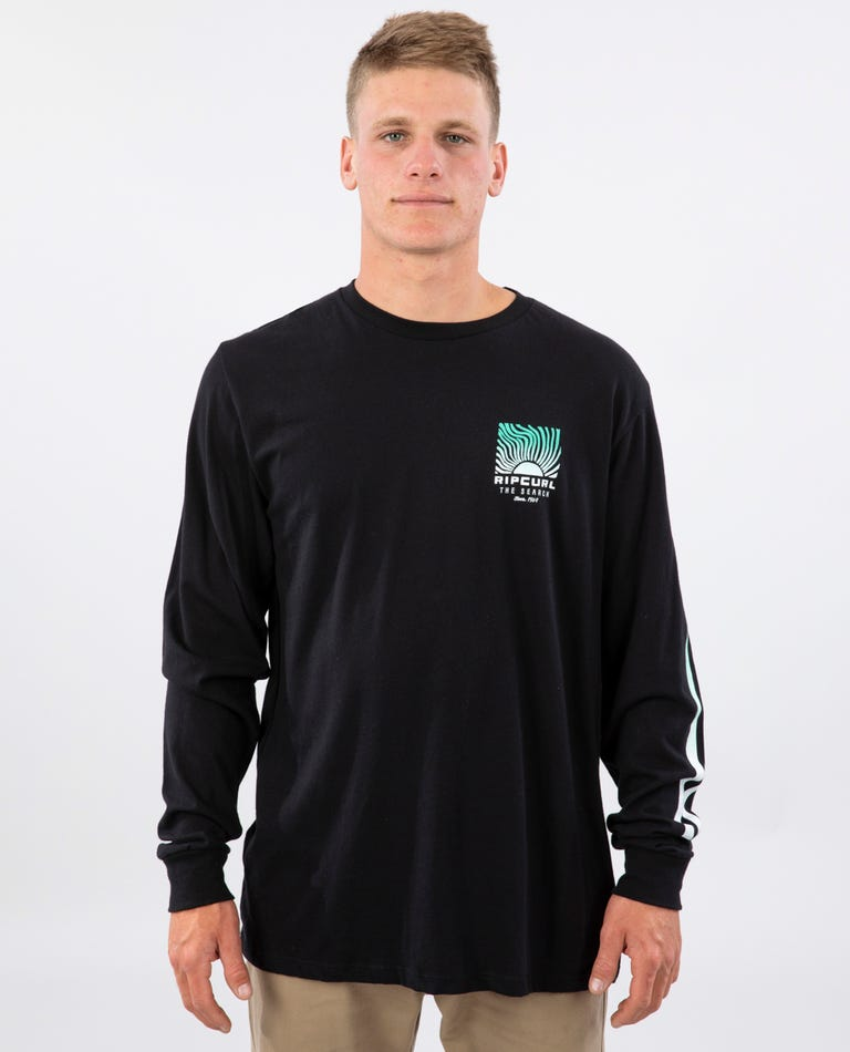Solar Premium Long Sleeve Tee in Black