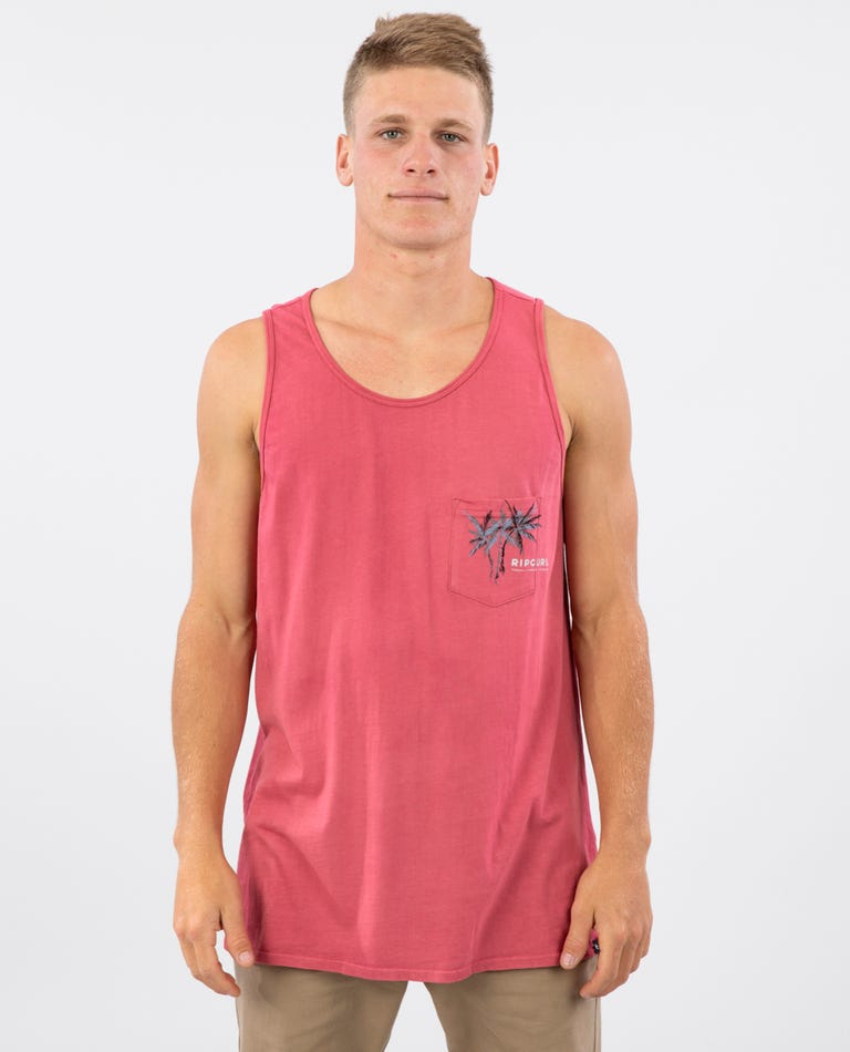 Palm Party Heritage Tank in Pink