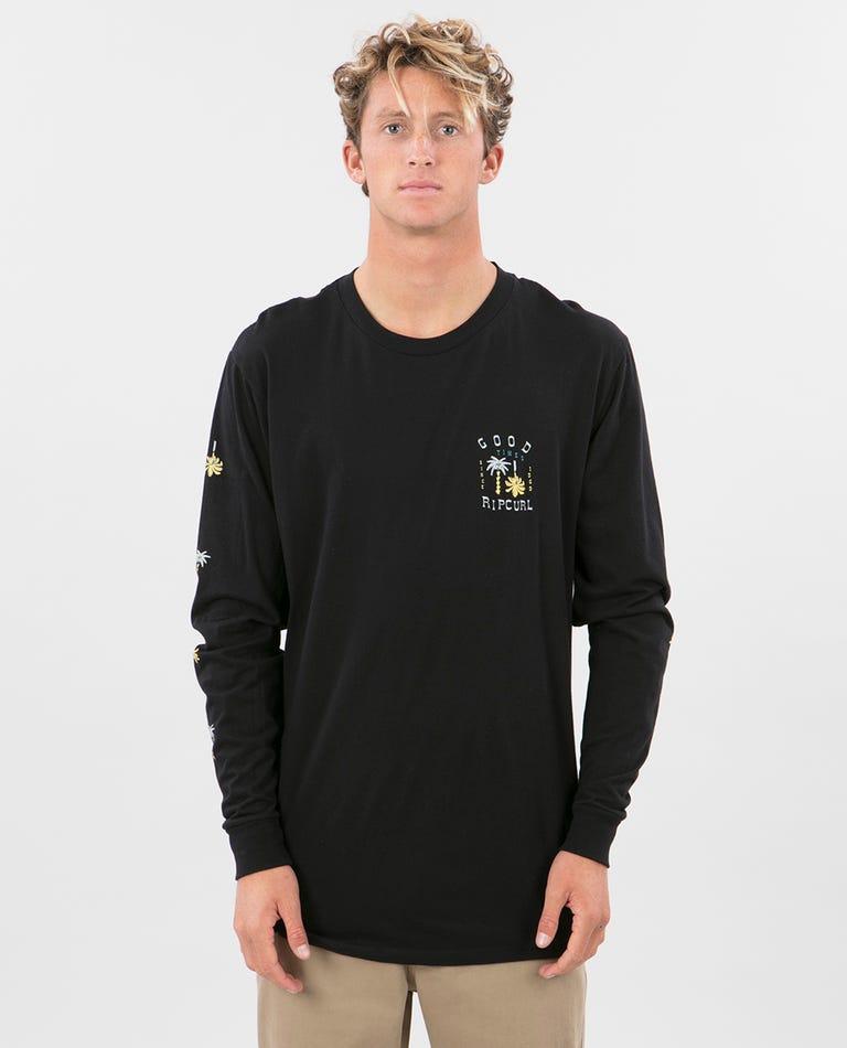 Beachside Premium Long Sleeve in Black