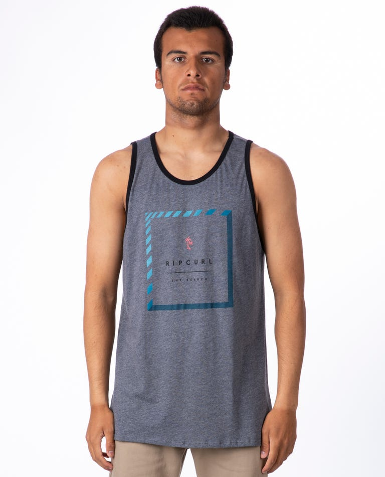 Stacked Ringer Tank in Graphite