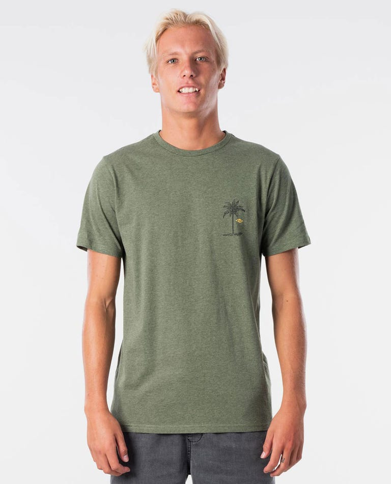 Black Hole Tee in Olive Marle