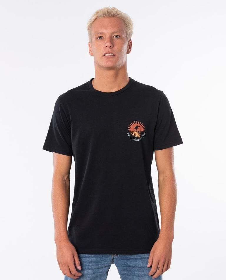Distant Cotton Tee in Black