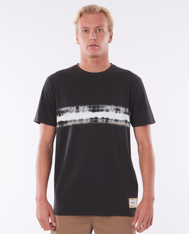 Grateful Dye Tee in Washed Black