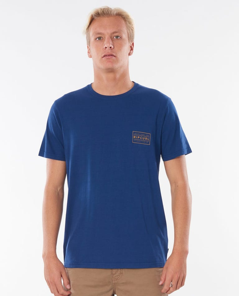 Driven Box Tee in Royal Blue