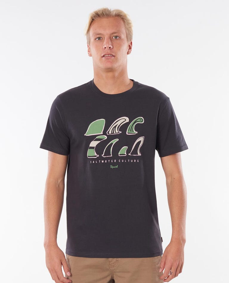 SWC Fin Tee in Washed Black