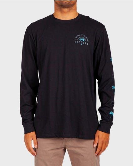 Tropic Search Premium Long Sleeve Tee in Black