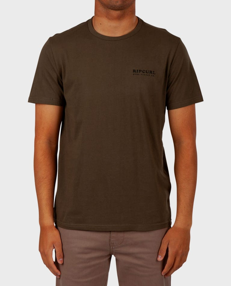 Sea Bees Standard Issue Tee in Military Green