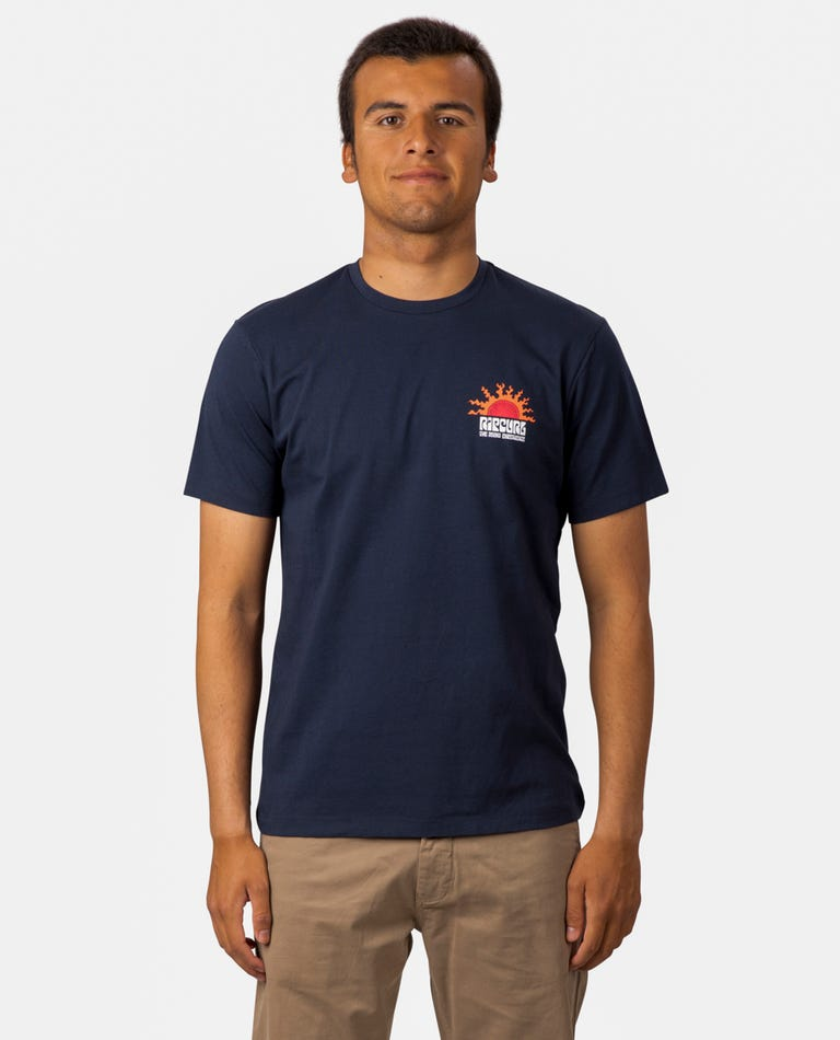 Grateful Tee in Navy
