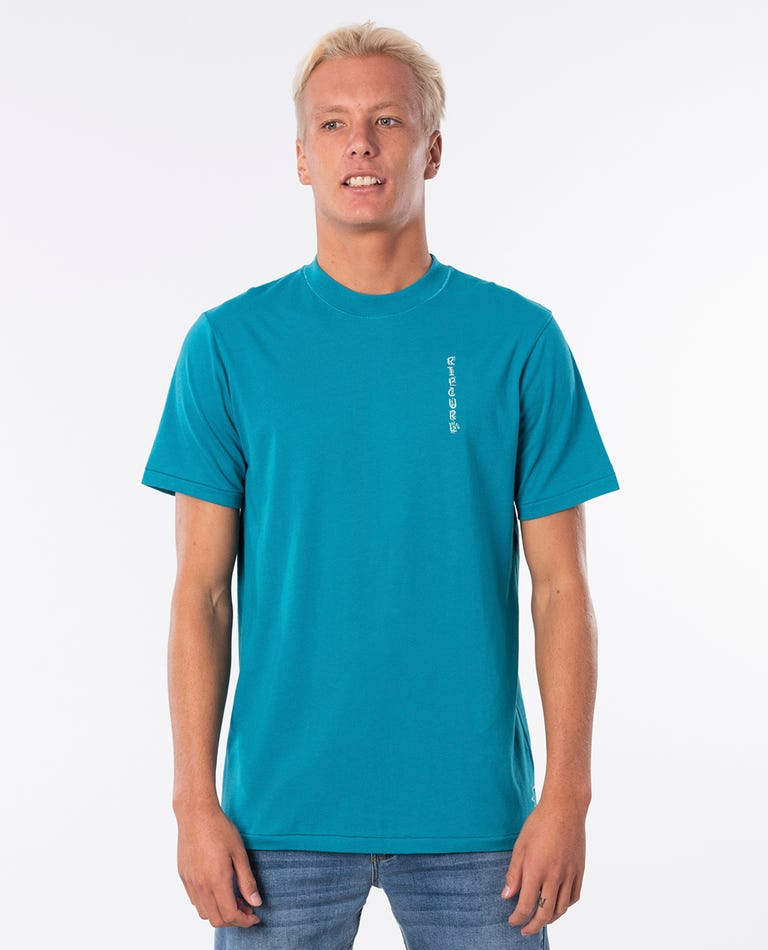 K-Fish Art Cotton Tee in Teal