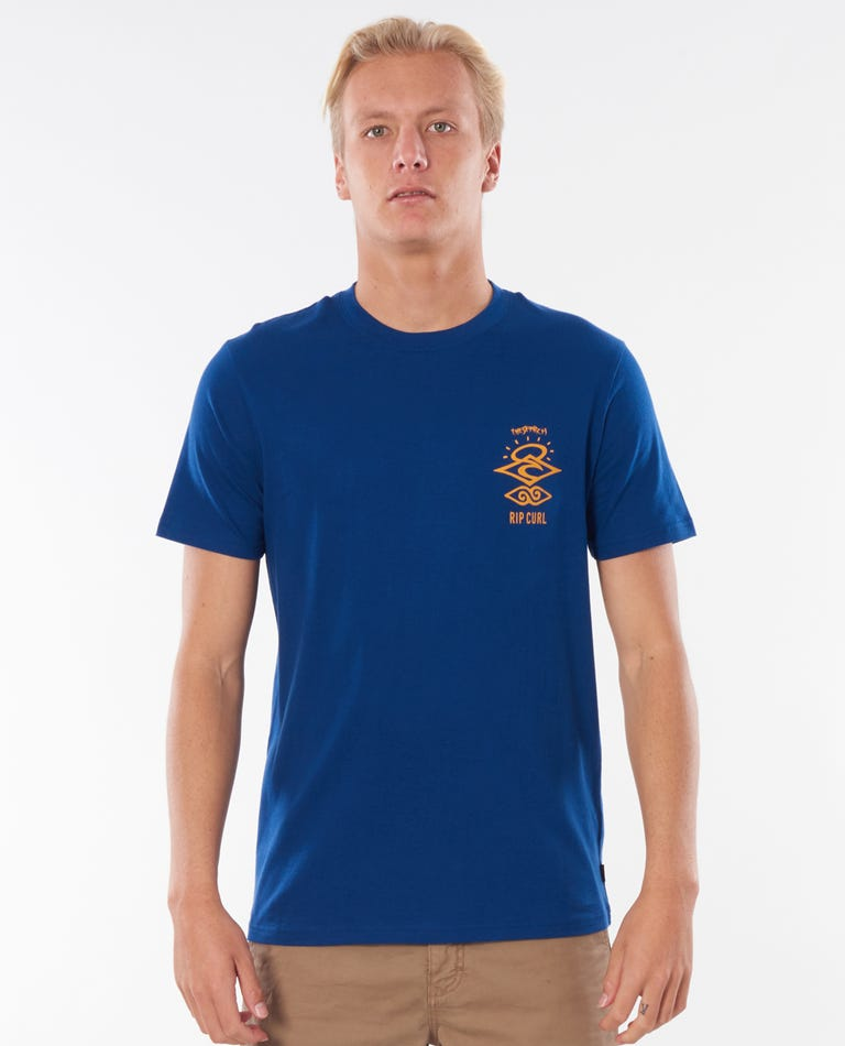 Search Logo Tee in Royal Blue
