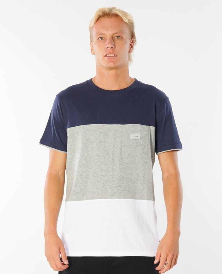 Divisions Tee in Navy