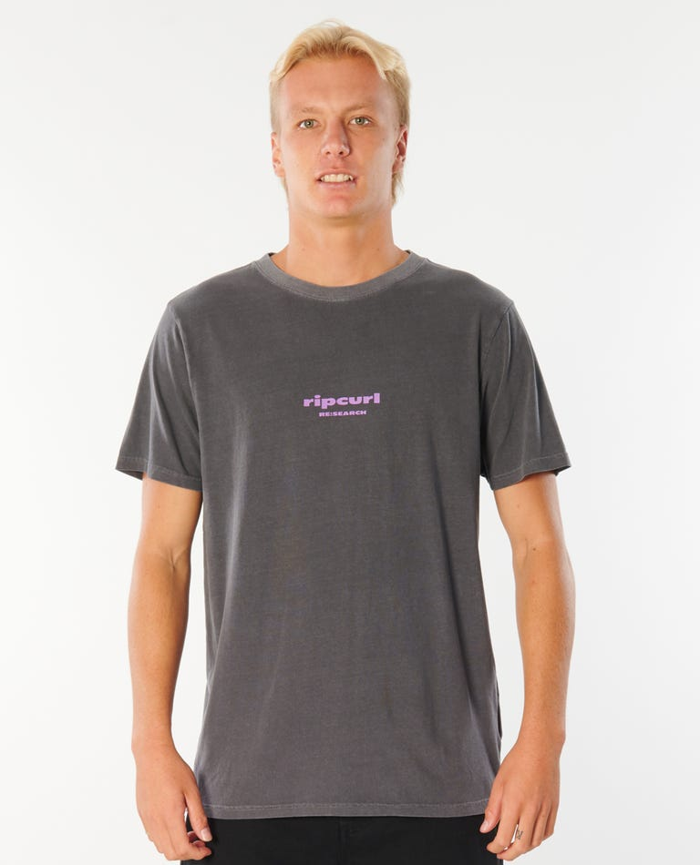 Re:Search Logo Tee in Washed Black