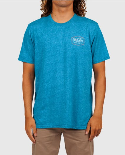Station Mock Twist Tee in Aqua