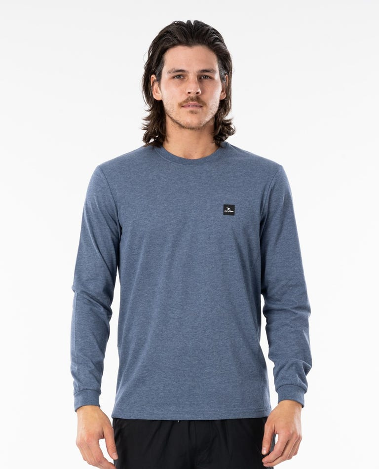Pivoting VaporCool Long Sleeve Tee in Mid Blue Marle