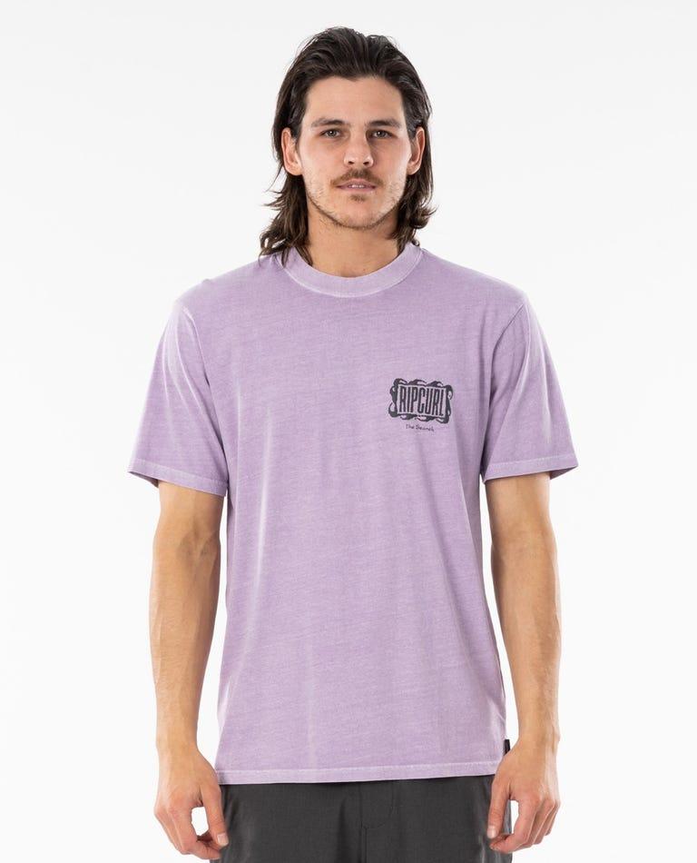Mind Wave Logo Tee in Lavender