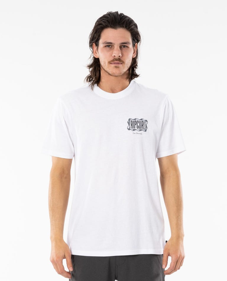 Mind Wave Logo Tee in White