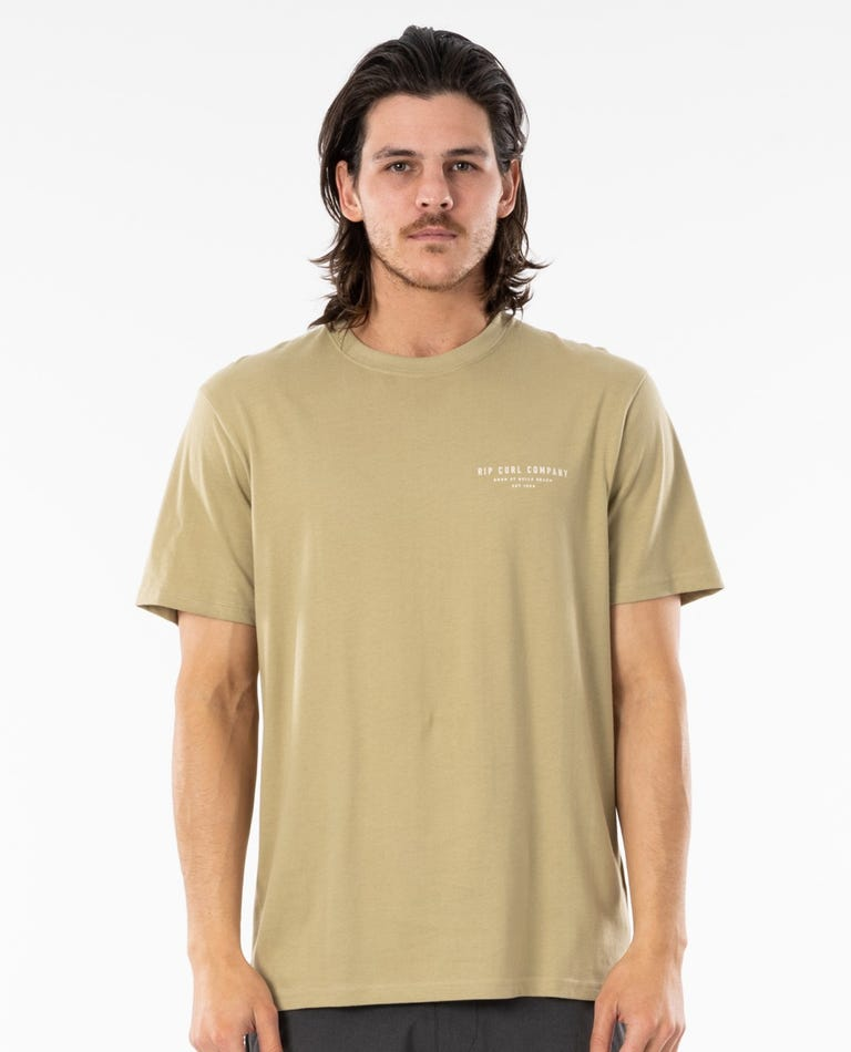 Saltwater Culture Nomadic Tee in Olive