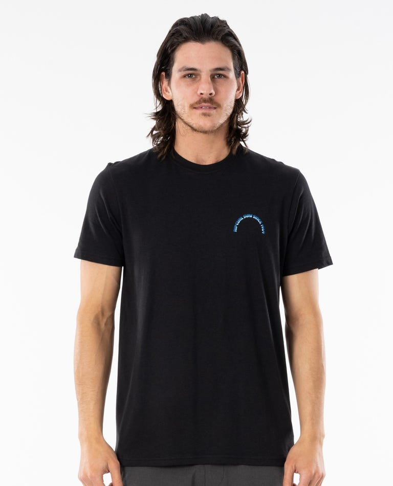 Surf Revival Arch Tee in Black