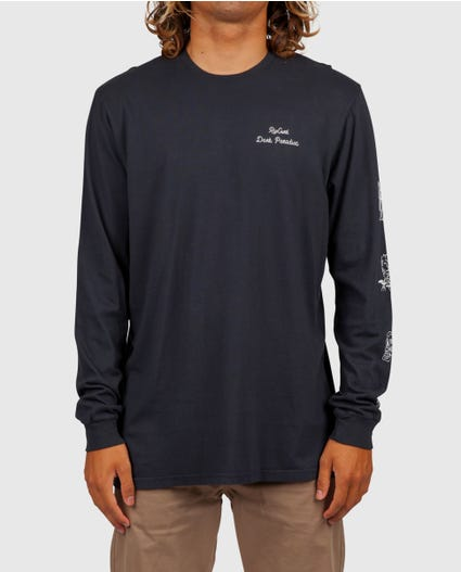 Dark Paradise Heritage Long Sleeve Tee in Midnight
