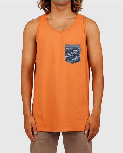 Collective Heritage Pocket Tank in Clay
