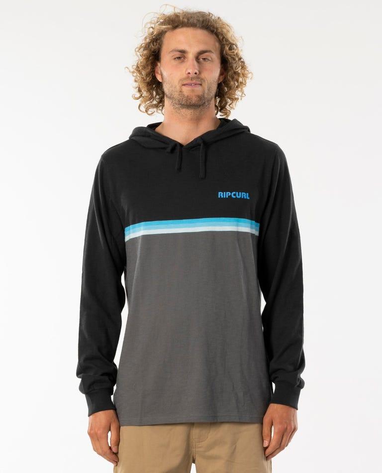 Surf Revival Hooded Long Sleeve  in Black
