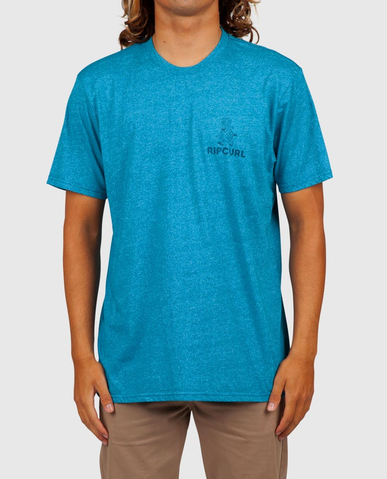 Loco Moco Mock Twist Tee in Aqua