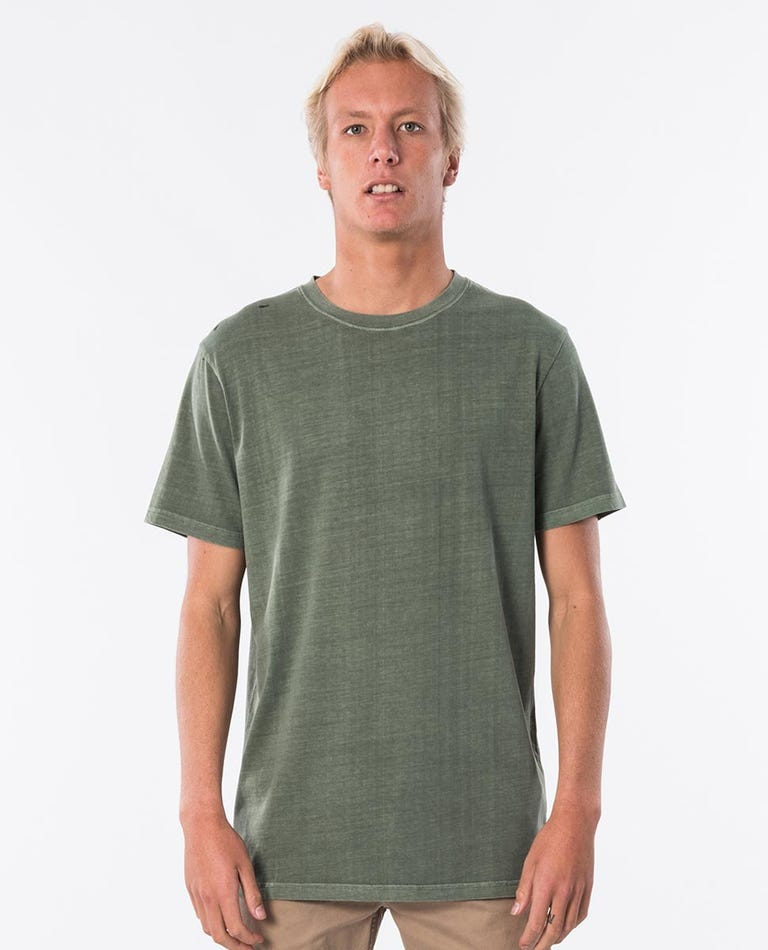 Plain Wash Tee in Forest Green
