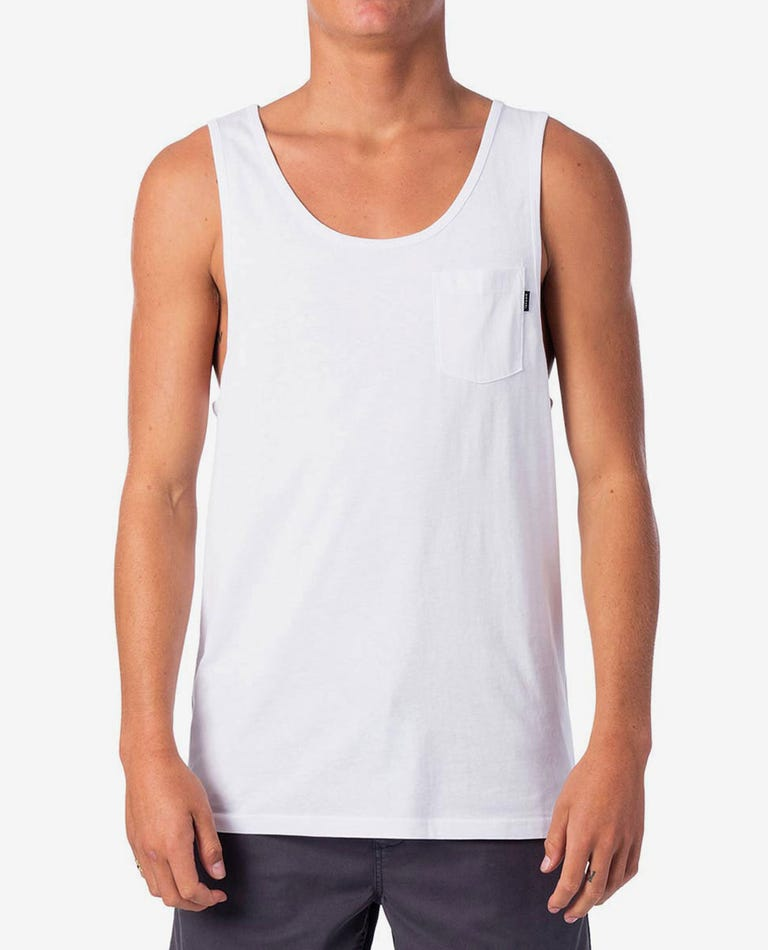 Plain Tank in White