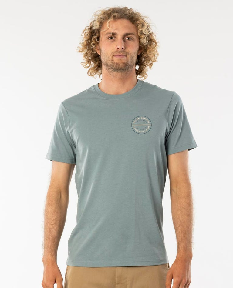 Circuit Tee in Mineral Green