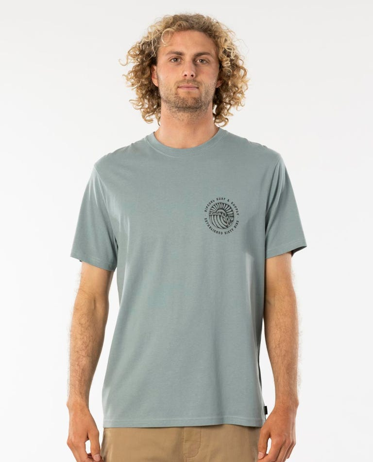 Sunsets Tee in Mineral Green