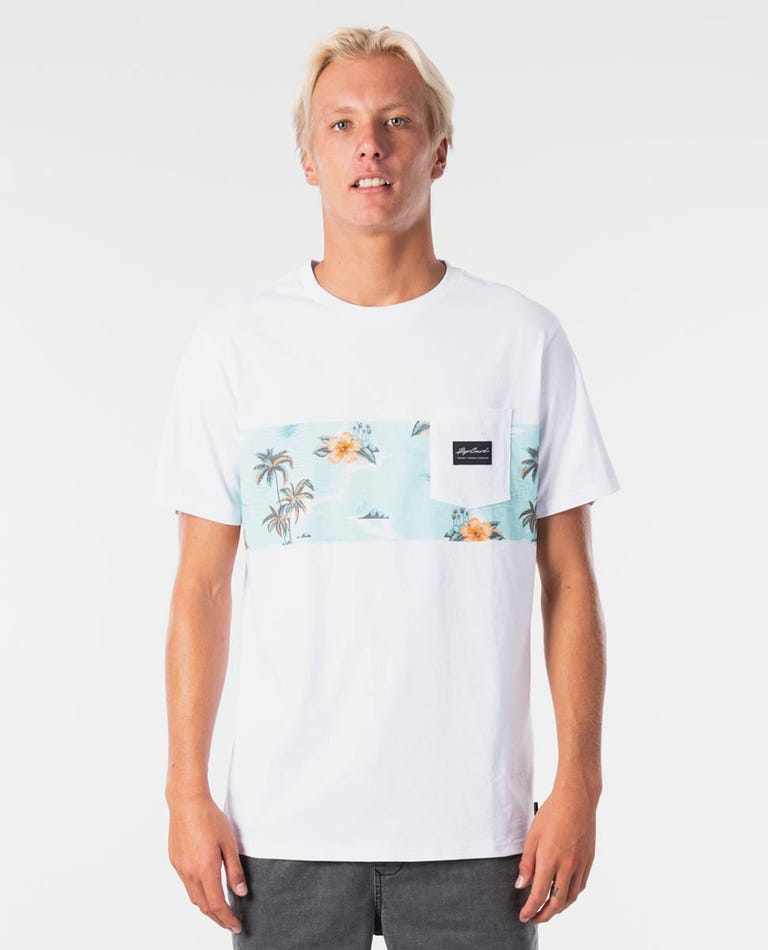 Palm Beach Panel Tee in White