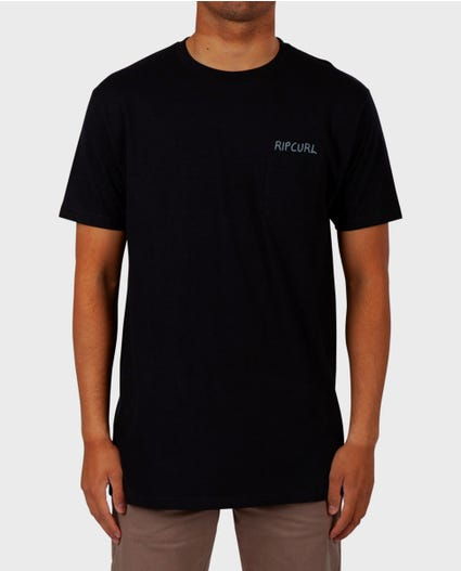Pina Lounge Premium Pocket Tee in Black
