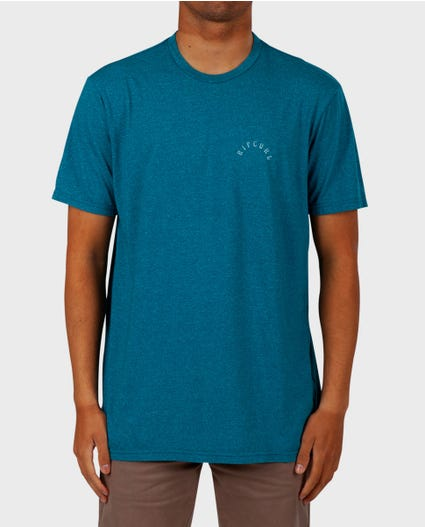 Palm Life Mock Twist Tee in Aqua