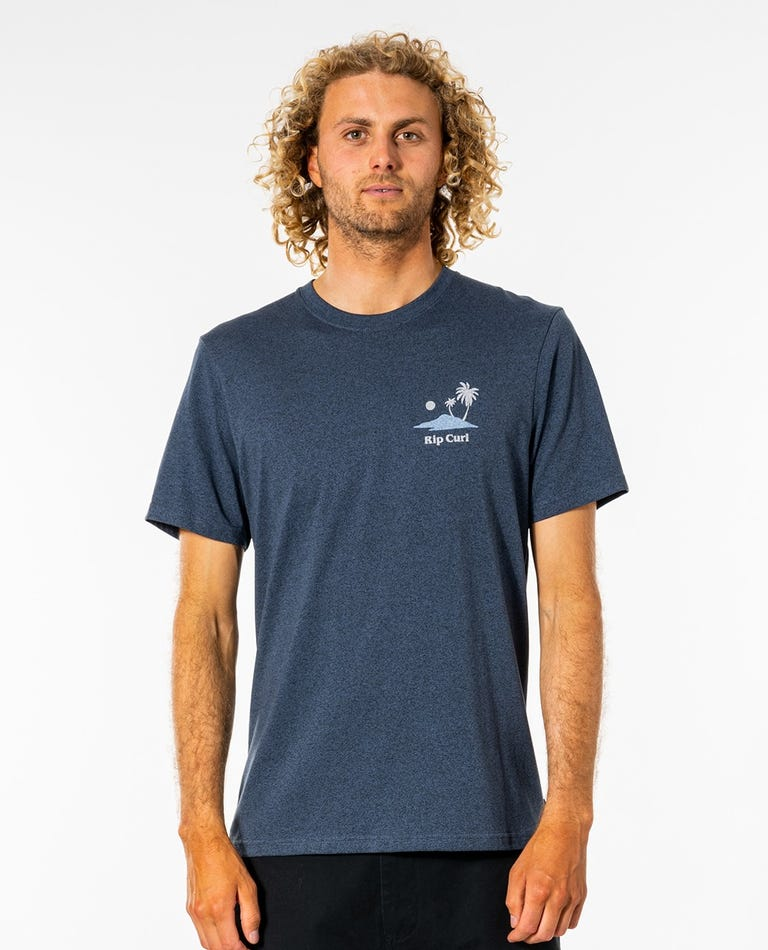 Quality Craft Tee in Navy Marle