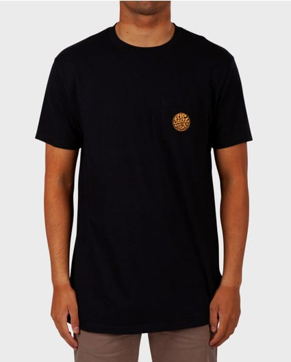 Minimalist Premium Pocket Tee in Black