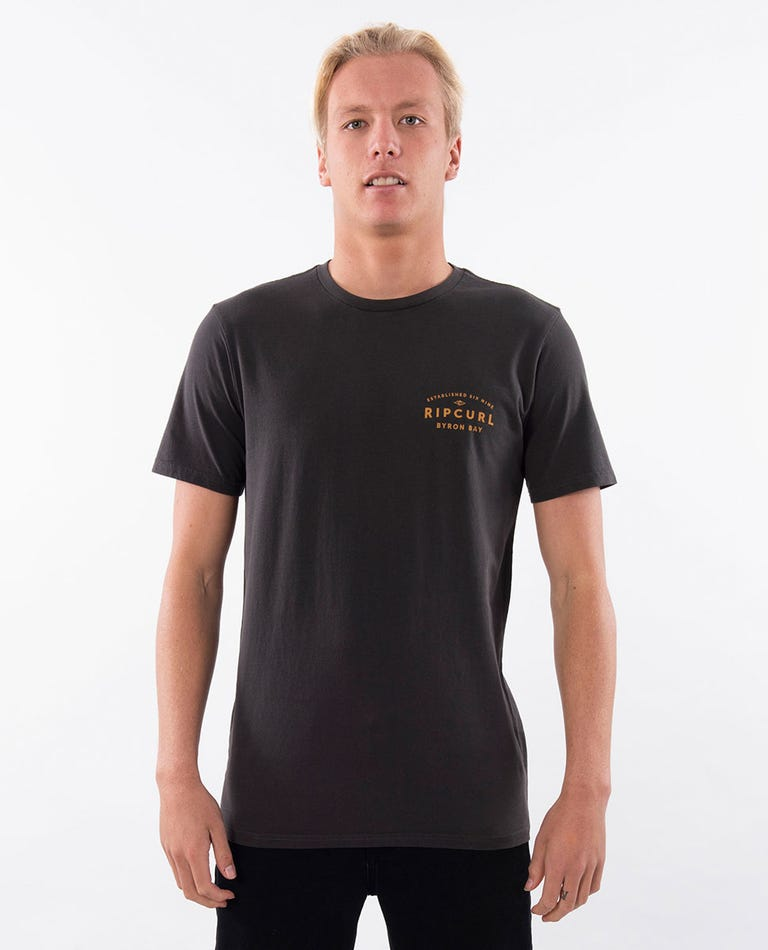 2019 Byron Journeys Tee in Washed Black