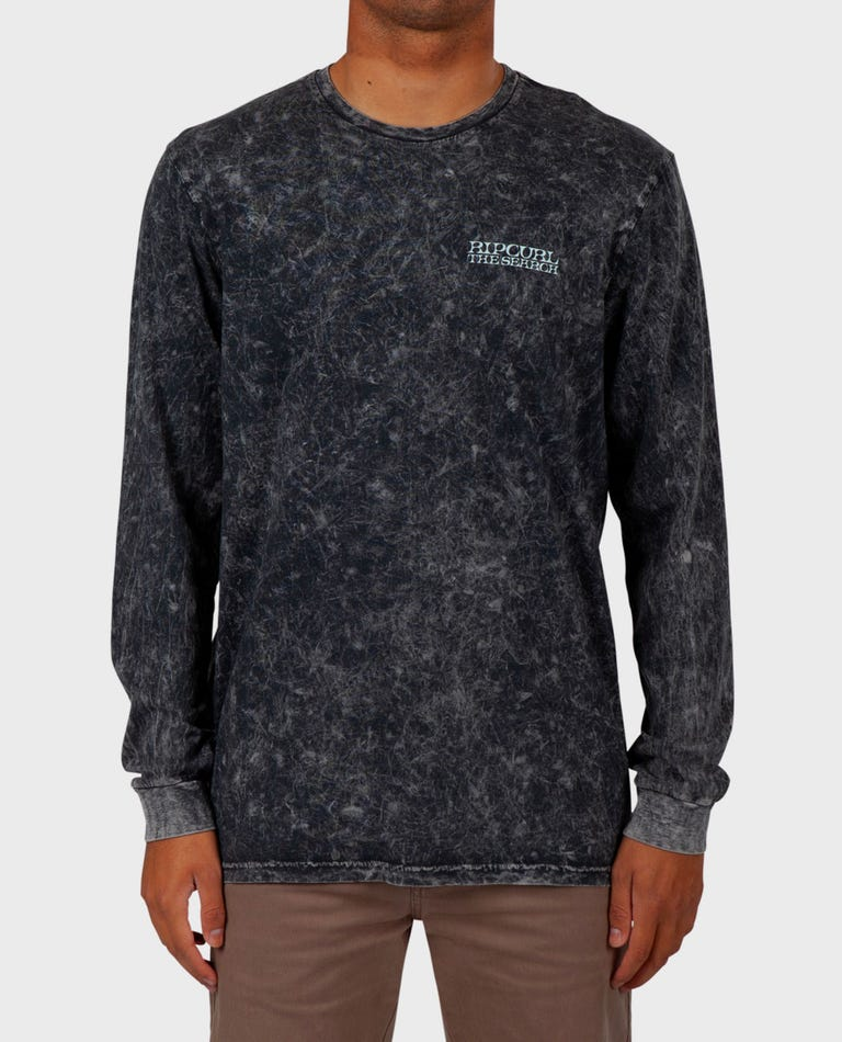 Sir Shred Heritage Long Sleeve Tee in Charcoal