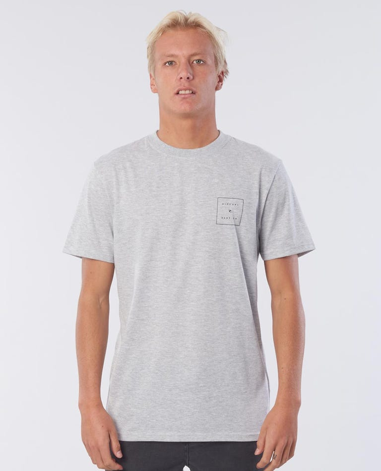 Squared Vaporcool Tee in Grey Marle