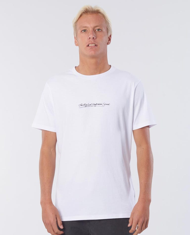 Cutting Cotton Tee in White