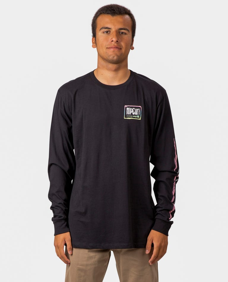 Native Glitch Premium Long Sleeve  in Black