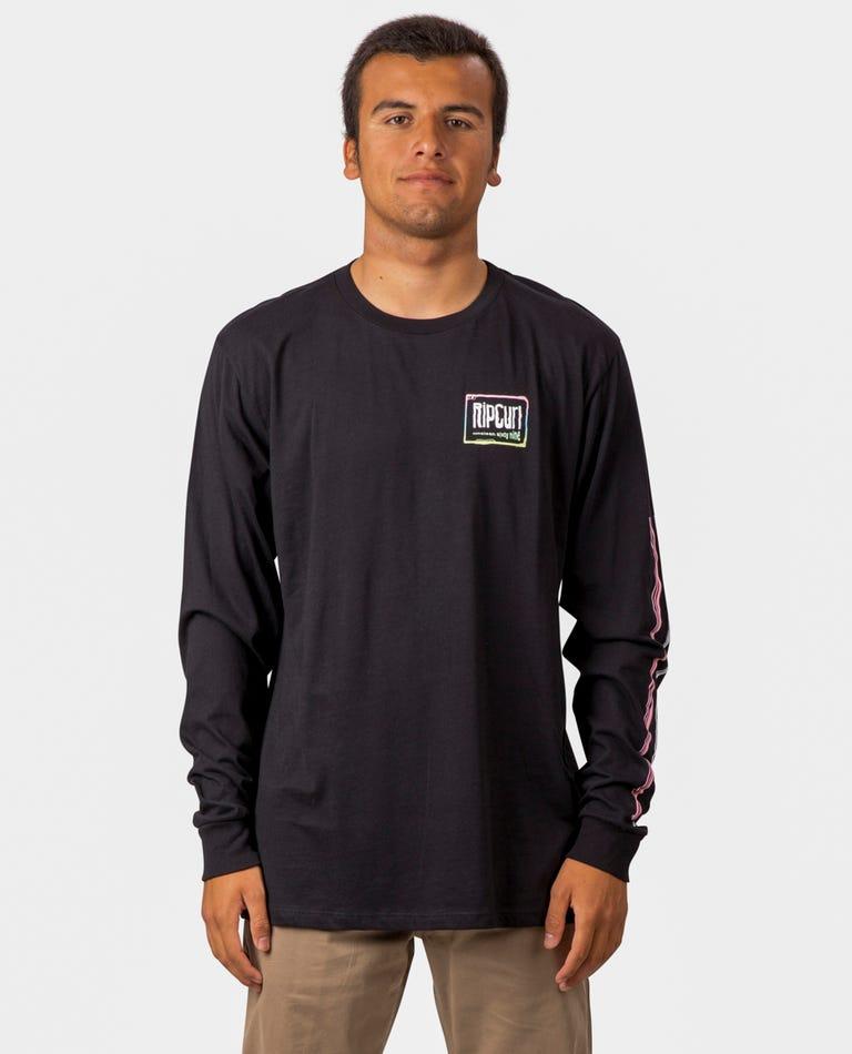 Native Glitch Premium Long Sleeve  in Black