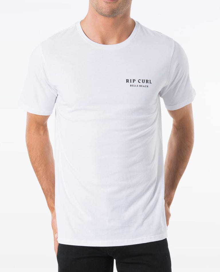 Bells Beach Hazed Tee in White