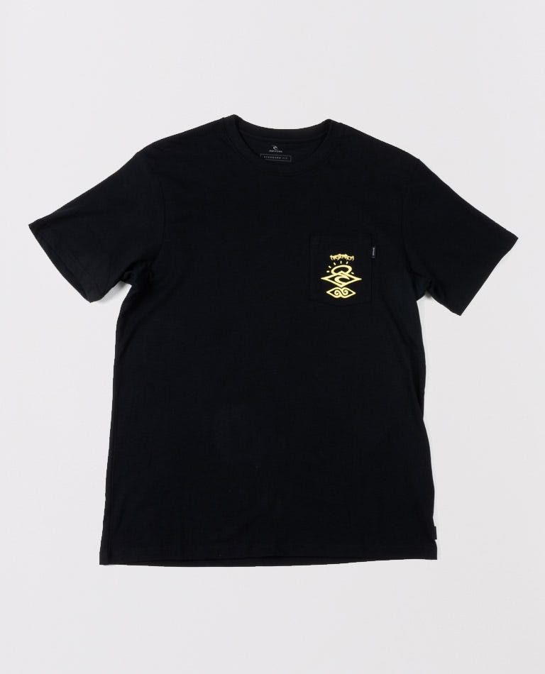 Free Scrubber Search Tee in Black