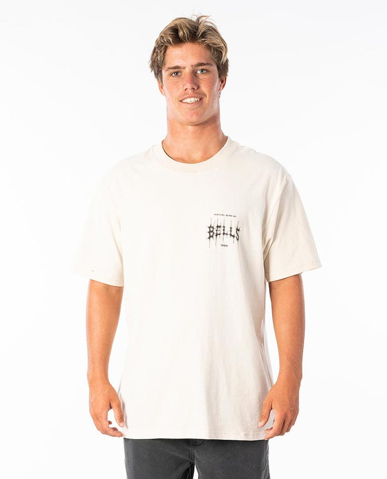 Born At Bells Metal Tee in Bone