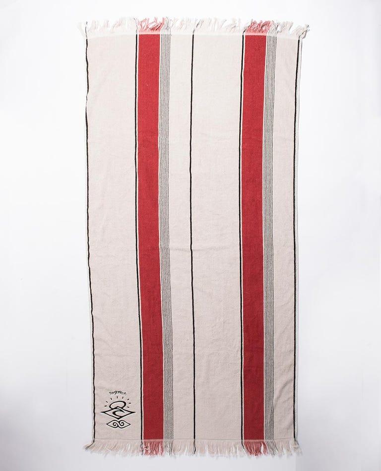 Searchers Stripe Towel in Bone