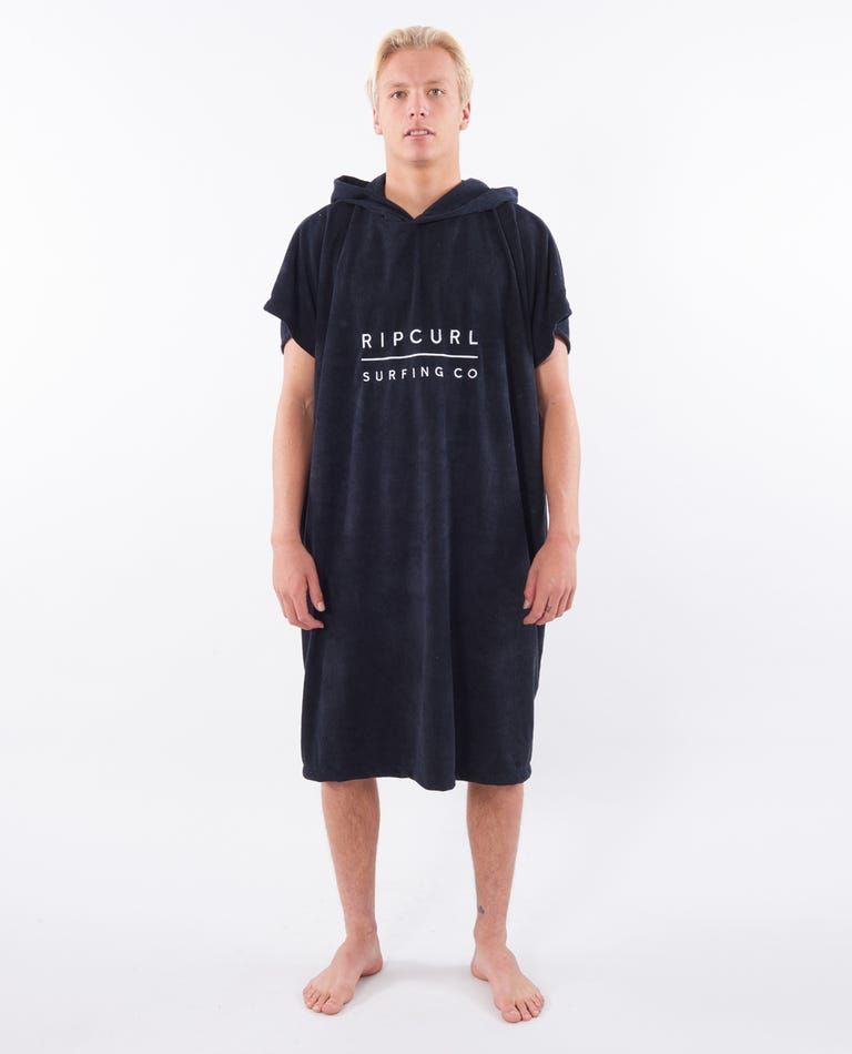 Mix Up Hooded Towel in Black