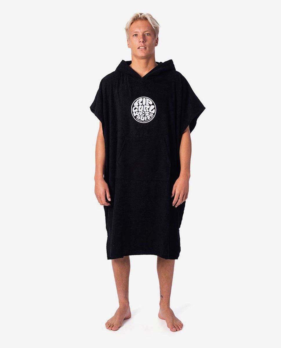 Rip Curl Wet as Hooded Towel Black-Surf Poncho